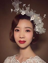 Femme Imitation de perle Lin Casque-Mariage Occasion spéciale Fleurs 1 Pièce