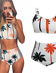 Damen Bikinis  -  Hochgeschnitten / Boho Gepolsterte BHs / Drahtlos Elasthan / Nylon Bandeau