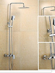 Wall Mounted Single Handle One Hole in Chrome Shower Faucet