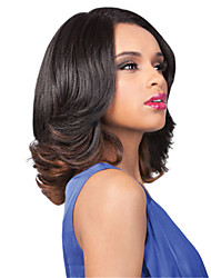 Capless Short Medium Curly Wave Brown Tone Synthetic Wigs for Women Brown with Free Hair Net