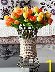 Seda Rosas Flores artificiais