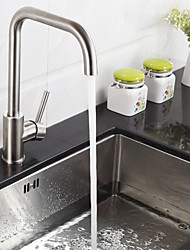 Deck Mounted Single Handle One Hole Stainless Steel Kitchen Faucet K40CF19SS