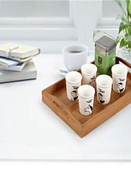 caixa de cozinha de armazenamento bandeja de caixa de armazenamento de alto grau de utensílios de bambu