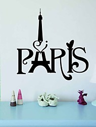 Wall Stickers Wall Decals Style The New Paris Tower Carved Off Waterproof Removable PVC Wall Stickers