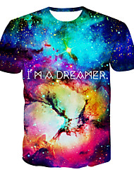 Creative men's 3 dt T-shirt with short sleeves