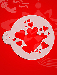 Variety Heart Pattern Cake Stencil ,Wall Painting Stencils ,Coffee Stencil Template Mold Plastic,Cake Tools ST-3077