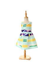 Robe Fille de Eté Polyester Multicolore