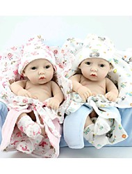 NPKDOLL Reborn Baby Doll Hard Silicone 11inch 28cm Waterproof Toy Small Quilt Boy and Girl