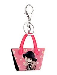 2016 anime sleutelhangers cartoon mooi meisje printing sieraden handtas auto sleutelhanger vrouwen houder sleutelhanger groothandel