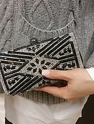 Women's  Black Party Wedding Evening Bag Clutches