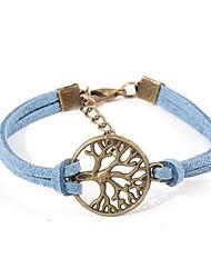 European Style Elegant Weave Lifetree Charm Chain Bracelet (Random Color)