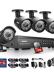 ANNKE 16CH HD 1080P DVR HDMI 4 Outdoor IR Home Video Security Camera System 2TB