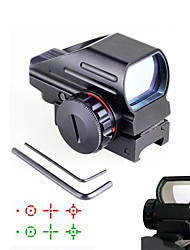 1X 33mm Tactical 4-Reticle Green/Red Dot Sight Rifle Scope Gun Mount