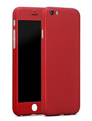 Para iPhone X iPhone 8 iPhone 6 iPhone 6 Plus Carcasa Funda Antigolpes Cuerpo Entero Funda Color sólido Dura Policarbonato para iPhone X