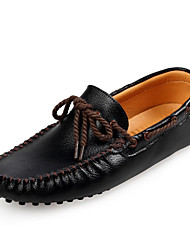 Men's Shoes Casual  Boat Shoes Black / Yellow / White