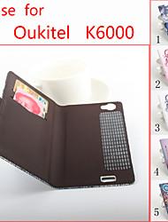 флип кожаный магнитный защитный чехол для oukitel K6000 (ассорти цветов)