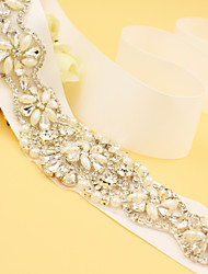 2016 New Satin Wedding / Party/ Evening Sash - Rhinestone / Imitation Pearl Handmade Sashes
