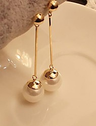 Drop Earrings Imitation Pearl Platinum Plated Alloy Fashion Gold Jewelry 1set
