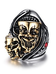 Skeleton Rock Titanium Steel Ring