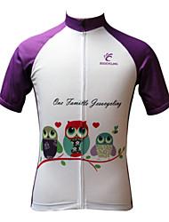 JESOCYCLING Maglia da ciclismo Per donna Manica corta Bicicletta Maglietta/Maglia Top Asciugatura rapida Resistente ai raggi UV