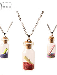 Necklace Pendant Necklaces Jewelry Daily / Casual Fashion Alloy Transparent 1pc Gift