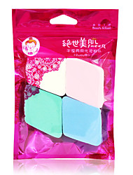 Powder Puff Makeup Sponge Natural Sponges 4pcs Quadrate 5x5cm Set Blue / Pink / White