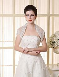 Wedding / Party/Evening Lace / Tulle Shrugs Short Sleeve Wedding  Wraps