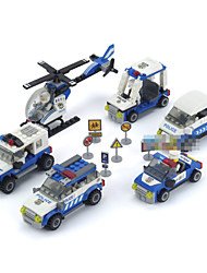 6piece/lot Patrol Model Building Blocks Boys Toys Assembly Model Enlighten Bricks Children Enlighten Plastic