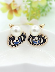 Earring Drop Earrings Jewelry Women Alloy / Imitation Pearl / Platinum Plated 1set Gold / Black