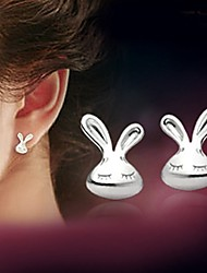 925 Silver Sterling Silver Jewelry Earrings Sample Lovely Rabbit Stud Earring 1Pair