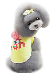 Dog Coat / Hoodie Yellow / Pink Dog Clothes Winter Fashion