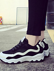 Women's Shoes Color Block Leisure Increased Within Low Heel Comfort / Round Toe Fashion Sneakers Outdoor / Athletic