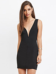 Women's Sexy Halter Slim Sleeveless Dress