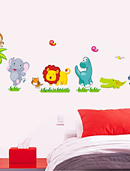 new dinosaur cartoon wall stickers lion children room decorative wall stickers can be removed in kindergarten