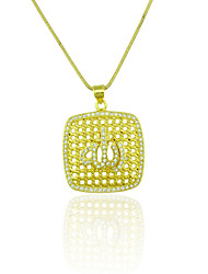 Pendants Metal / Rhinestone Square Shape As Picture 1
