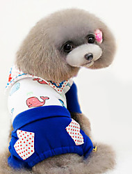 Dog Clothes/Jumpsuit / Clothes/Clothing Red / Blue Spring/Fall Fashion