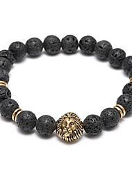 Skull Head Buddha Beads Energy Volcano Stone Bracelet Christmas Gifts