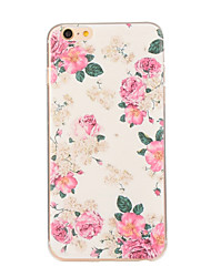Pour iPhone 8 iPhone 8 Plus iPhone 6 iPhone 6 Plus Etuis coque Motif Coque Arrière Coque Fleur Flexible PUT pour iPhone 8 Plus iPhone 8