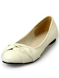 Chaussures Femme - Décontracté - Noir / Bleu / Jaune / Rose / Beige - Talon Plat - Bout Arrondi - Plates - Similicuir
