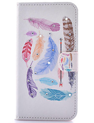 For Samsung Galaxy S7 Edge Wallet / Card Holder / with Stand / Flip Case Full Body Case Feathers PU Leather SamsungS7 edge / S7 / S6 edge