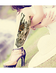 Deer Beauty  Waterproof Flower Arm Temporary Tattoos Stickers Non Toxic Glitter