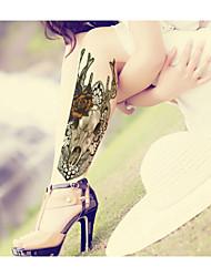 BR - Tatuajes Adhesivos -Non Toxic / Modelo / Talla Grande / Brillante / Pistola / Tribal / Parte Lumbar / Waterproof / Año Nuevo / 3D /
