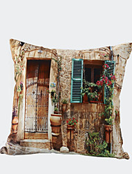 3D Design Print Door Flower Decorative Throw Pillow Case Cushion Cover for Sofa Home Decor Polyester Soft Material