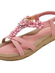 Women's Shoes Flat Heel Slingback / Comfort Sandals Office & Career / Party & Evening / Dress Pink / Almond