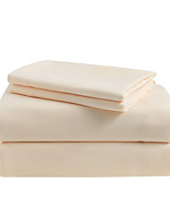 Beige Solid Microfiber Sheet Sets