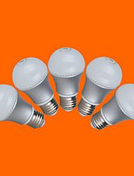 5 pcs FSL® E26/E27 5W 10 SMD 3528 350 LM Warm White/Cool White G Globe Bulbs AC 220-240 V