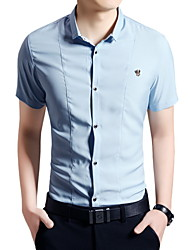 Men's Fashion Casual Short Sleeved  Shirt  Plus Sizes