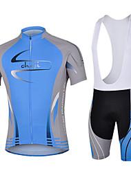 CHEJI® Fahrradtrikot mit Trägerhosen Herrn Kurze Ärmel Fahhrad Atmungsaktiv / Rasche Trocknung / UV-resistant / 3D Pad / Antibakteriell