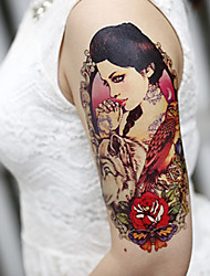Large Arm Flowers Fake Transfer Temporary Tattoos Body Sexy Stickers Waterproof