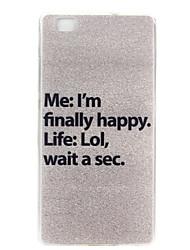 heureux motif tpu matériau cas de téléphone pour huawei p8 Lite / Huawei Ascend g7